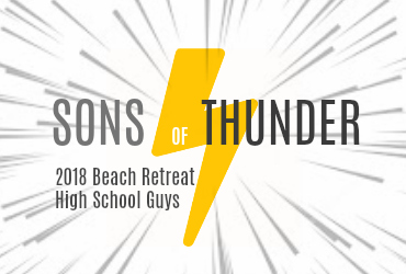Yellow Lightning Bolt for Sons of Thunder Retreat