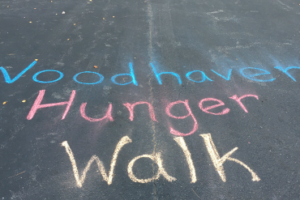 "Parking Lot with ""Woodhaven Hunger Walk"""